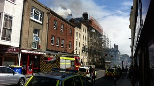 Fire in St Leonards