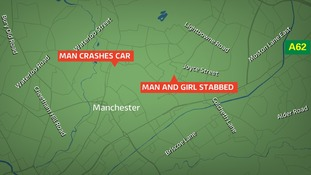 Man stabbed to death and girl critically injured in Moston