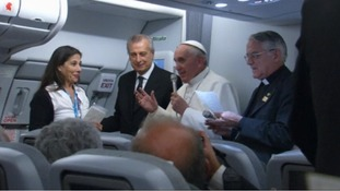 Pope Francis addressed reporters aboard the Papal plane.