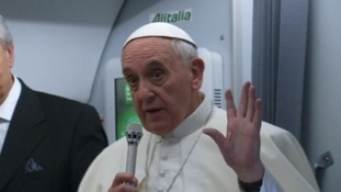 The pontiff said he would not judge gay priests.