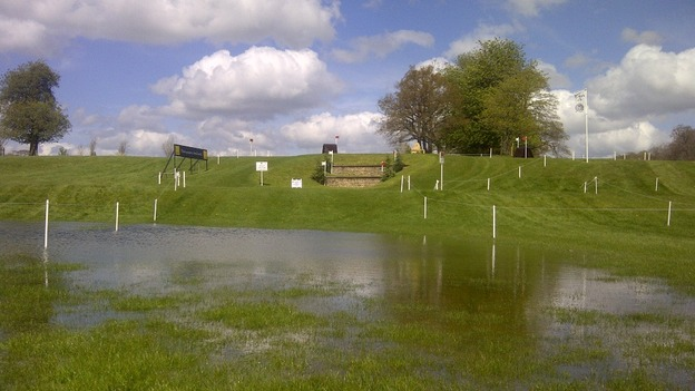 Waterlogged Badminton course