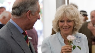 Prince Charles and Camilla, Duchess of Cornwall at the Sandringham Flower Show in 2010.