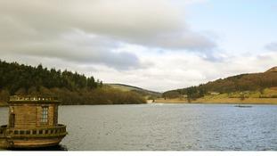 Ladybower Reservoir in the Peak District National Park, Derbyshire.