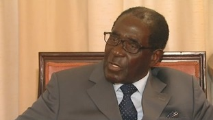 Robert Mugabe speaking exclusively to ITV News.