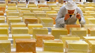 Judging at the International Cheese Awards in Nantwich, Cheshire
