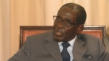 Robert Mugabe speaking to Rohit Kachroo.