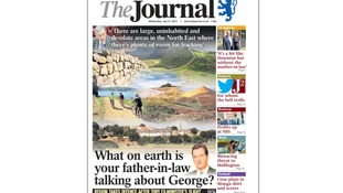 'What on earth is your father-n-law talking about George?' The Journal's front page.