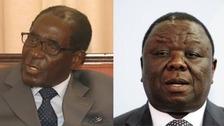 Zimbabwean President Robert Mugabe (left) and Prime Minister Morgan Tsvangirai.