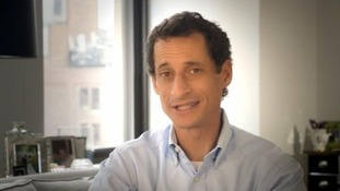 New York City mayoral hopeful Anthony Weiner in his new campaign video.