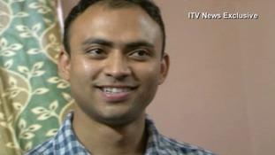 Footman Badar Azim has returned to Calcutta after his visa ran out.
