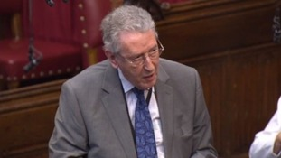 Lord Howell speaking in the Lords yesterday.