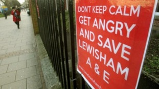 Campaigners have been fighting against the Health Secretary's decision to reduce services at Lewisham.