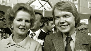 Margaret Thatcher and William Hague pictured in October 1977 when he made his speech to the Tory conference.