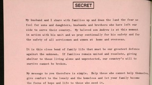 The Message to the Nation is one of the papers released by the National Archives.
