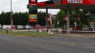 police scene at fuel theft