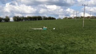 Glider crash in Bedfordshire