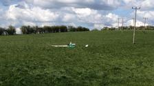 Glider crash in Bedfordshire