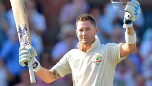 Australian captain Michael Clarke hit a vital century on day one of the third Test.