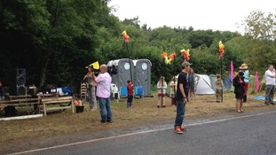 protestors at Balcombe