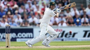 Australia captain Michael Clarke is heading for a double century on the second day of the third Test