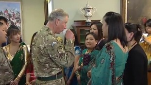 Gurkhas gather for Prince's visit