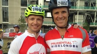 Matt Dawson and James Cracknell ahead of today's race