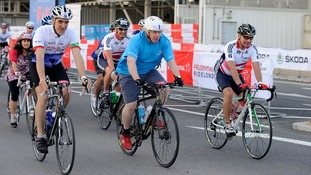 Boris Johnson in Ride London