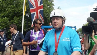 Boris finishes RideLondon
