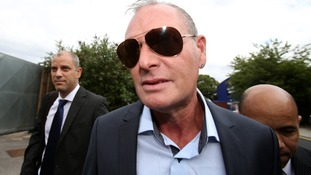 Gascoigne arrives at court