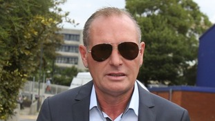 Paul Gascoigne arrives at Stevenage Magistrates Court.