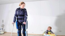 Claire Lomas with her son