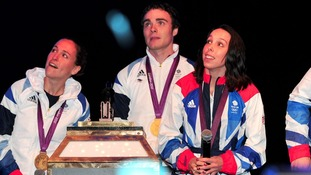 Beth Tweddle and fellow Olympians