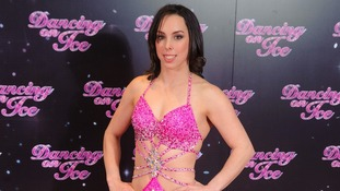 Beth at the launch of the new series of ITV's 'Dancing on Ice'