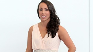 Beth Tweddle at the Olympic Park as she announces her retirement
