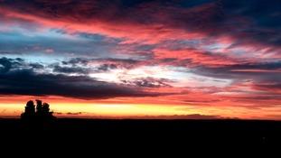 Sunset over Nottinghamshire.