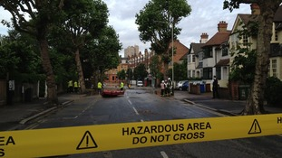 Streets have been sealed off as emergency crews deal with the flooding