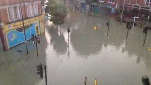 Picture of floods taken by Herne Hill resident