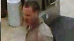 CCTV image of man wanted in connection with assault on rail worker