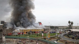 The Jomo Kenyatta International Airport was engulfed in flames earlier today.