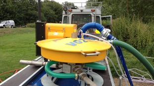 This is the River Rover aeration equipment being used by the Environment Agency to get oxygen into rivers. It cost £20,000.