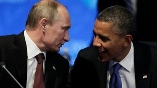 Putin and Obama in conversation at a G20 summit in June 2012.