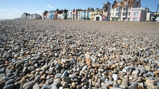 The beach at Aldeburgh.