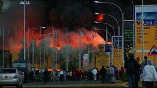 A massive fire engulfed the arrivals hall at Nairobi international airport.