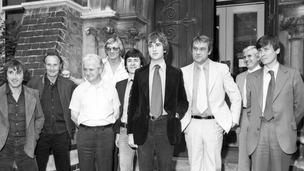 Roy James, Buster Edwards, Roger Cordery, Jimmy White, Gordon Goody and Jimmy Hussey, who attended a Cambridge Union debate at Cambridge.