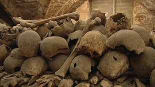 Uncovering church's chilling skeletons mystery
