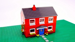 Lego model of house