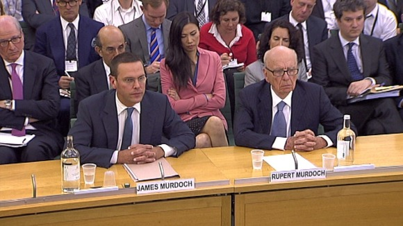 James & Rupert Murdoch before MPs