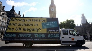 Liberty created its own advertising van campaign in response to the Home Office's.