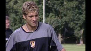 Stiliyan Petrov training for Aston Villa