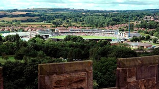 Cricket ground from Lumley Castle